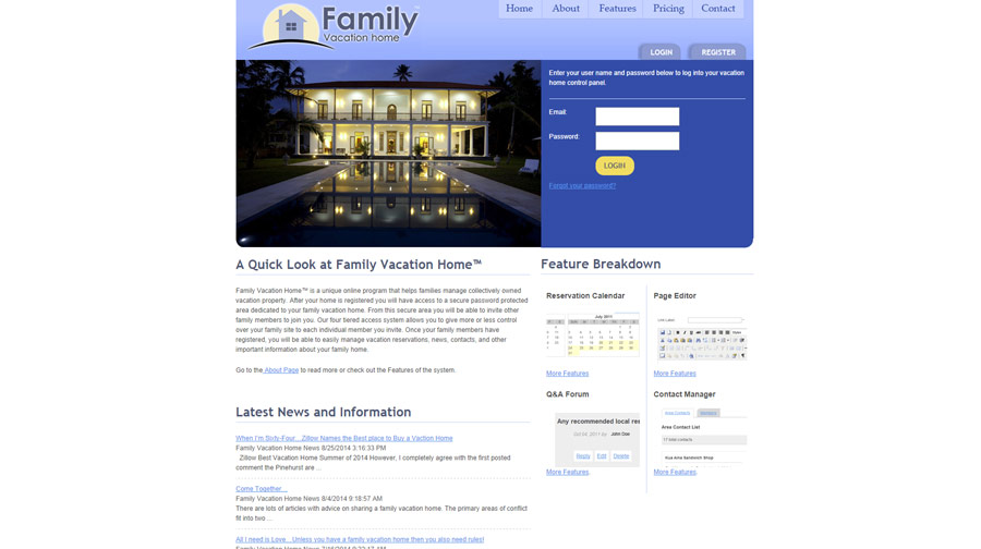 Family Vacation Home Example