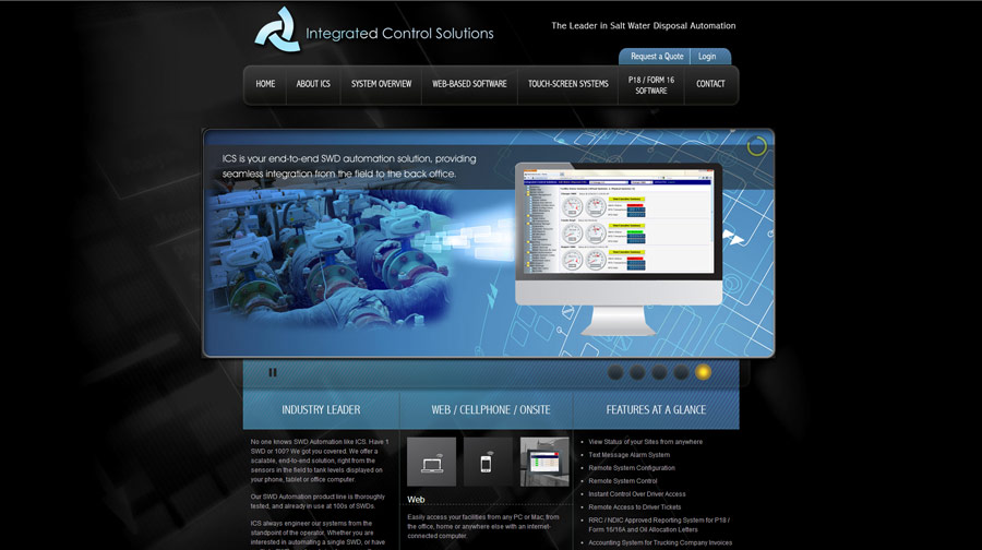 Integrated Control Solutions Website Example