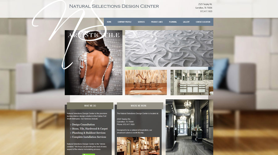 Natural Selections Website Example