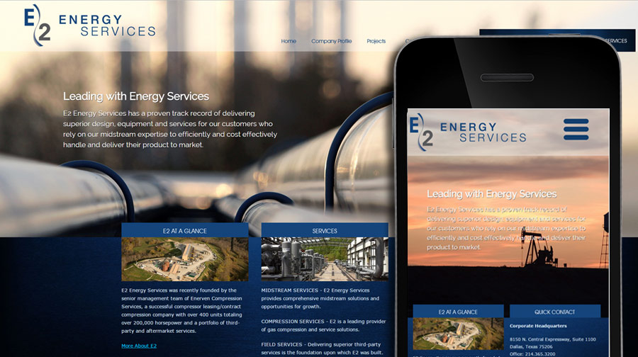 E2 Energy Services Website Example